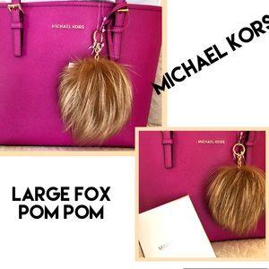MICHAEL KORS Fox Pom Pom LARGE!!!! Genuine!